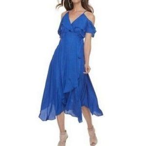 Beautiful Cobalt Blue Cold Shoulder New Dress